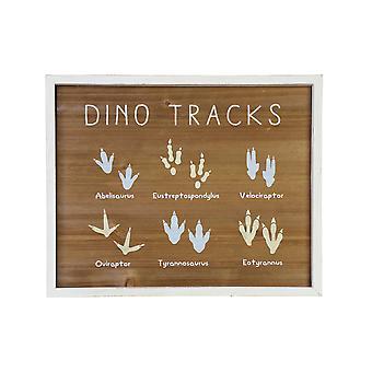 """16"""" X 20"""" Dino Tracks  Framed Wall Art"""