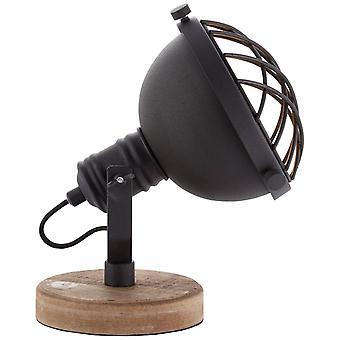 Lámpara BRILLANTE Mila Lámpara de Mesa Black Corundum ? 1x D45, E14, 25W, adecuado para lámparas de caída no incluidas. Con interruptor de intercambio de cable
