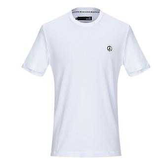 Love Moschino Peace Plaque White T-Shirt