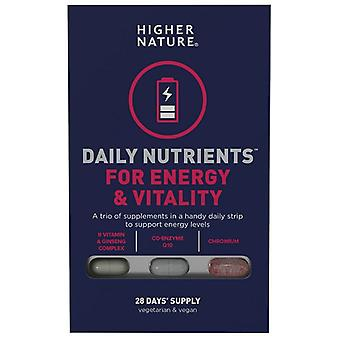 Higher Nature Daily Nutrients for Energy & Vitality Caps 28 (DNEV028)