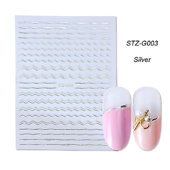 Geometriske Nail Art Sticker Decals Hollow Tape Liner Stribe Klæbende Slider Manicure Dekoration