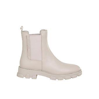 Michael Di Michael Kors 40f0rife6l182 Women's Beige Leather Ankle Boots