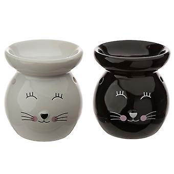 Ceramic Cat Face Ceramic Eden Oil Burner X 1 Pack