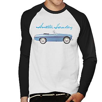 Austin Healey Blue British Motor Heritage Men's Baseball Long Sleeved T-Shirt