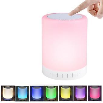 רמקול Bluetooth 3w עם צבע בקרת מגע ומנורת לילה הובילה