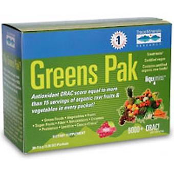 Trace Minerals Greens Pak, Chocolade 30 pkts