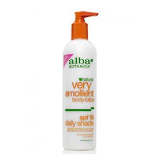 Alba Botanica Natural Very Emollient Body Lotion Daily Shade SPF 15, 32 FL Oz