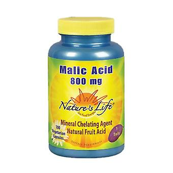 Nature's Life Malic Acid, 800 mg, 100 vcaps