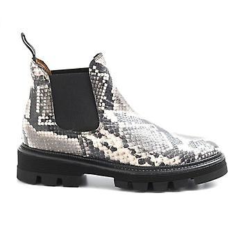 Alfredo Giantin Python Effect kožené kotníkové boty