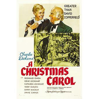 A Christmas Carol Terry Kilburn Reginald Owen 1938 Movie Poster Masterprint