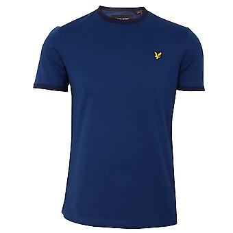Lyle & scott men's indigo ringer t-shirt