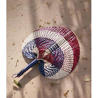 Ventilateur de pailles de palmier tissées à la main de Lontar