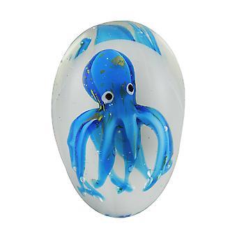 الأزرق المغطى الأخطبوط الزجاج فن ثقالة الورق