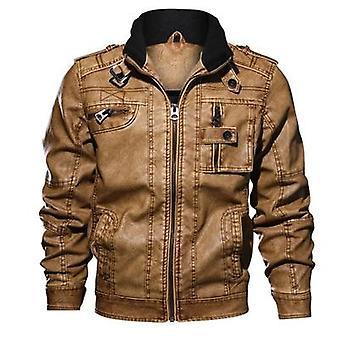 高品質クラシックオートバイメンズレザージャケット - 男性プラスコート