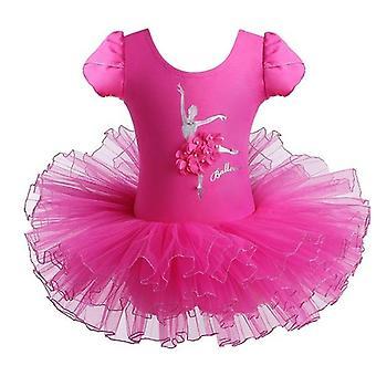 Girls Ballet Tutu Tulle Dress Sleeveless Gymnastics Leotard Diamond Leotard