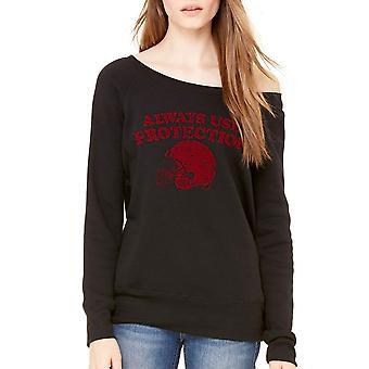 Humor Protection Women's Black Sweatshirt