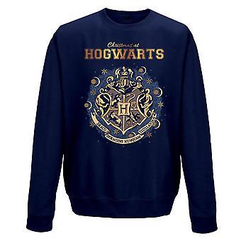 Harry Potter Unisex Adulti Natale a Hogwarts Stampa Crewneck Felpa