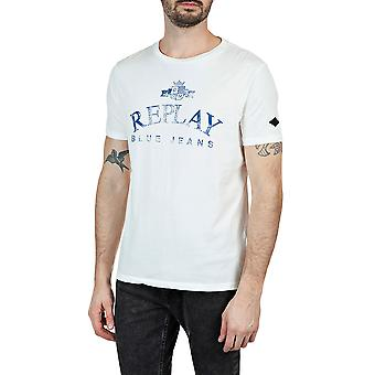 Replay Men's Organic Cotton Solid-Coloured T-Shirt Regular Fit