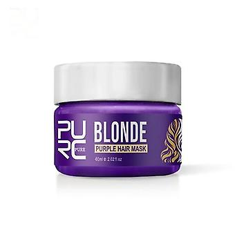 Purple Hair Mask Repairs Frizzy Make Hair Soft Smooth Removes Yellow