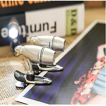 Kannettava 2 kpl Super Kirkas Bullet Light Mini Clip Design Reading Desk