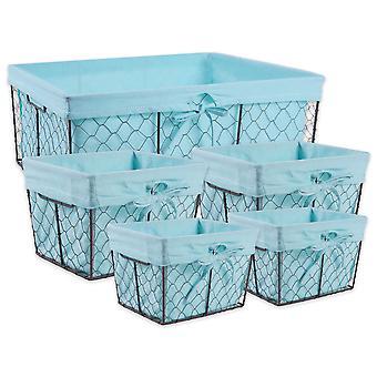 Dii Chicken Wire Basket (Conjunto de 5) Aqua