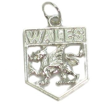 Wales Crest - Welsh Sterling Silver Charm .925 X 1 Cymru Charms - 139