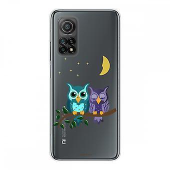 Runko Xiaomi Mi 10t Silikonissa Joustava 1 mm, Kuunvalo Pöllöt