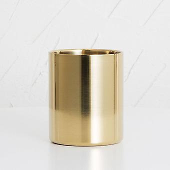Stainless Steel Vase Cosmetic Brush Container, Round Pen Holder