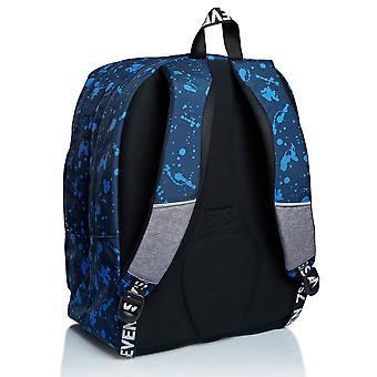 Outsize SEVEN Backpack - STREET PLAYER, Blå, Dubbelfack