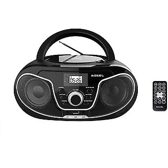 RCD-S70BT Portable Boombox CD Player with Bluetooth, Remote Control
