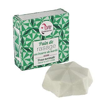 Kiinteä parranajosaippua - sitruunanvihreä tee 55 g (Vihreä tee - Sitrushedelmä)