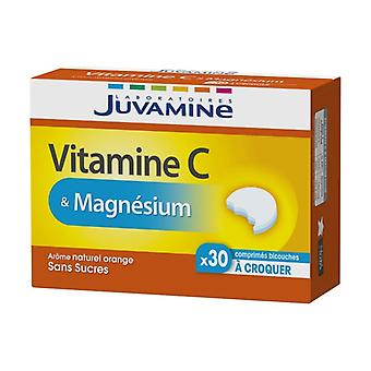 Vitamin C + Magnesium bi-layer tablets 30 chewable tablets
