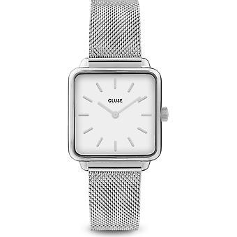 Cluse CW0101207003 Women's La Tétragone Silver Tone Mesh Wristwatch