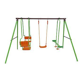 Parque infantil de acero Eva - 3 soportes - 1.95m