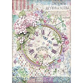 Stamperia Rice Paper A4 Clock