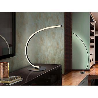 Integrated LED Table Lamp, Sandblasted Matt Black