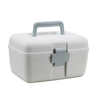 Caixa de medicamentos Recipiente de caixa de armazenamento multifuncional plástico doméstico com bandeja destacável