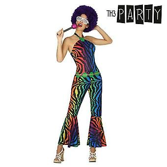 Costume for adults disco female jazzy colours