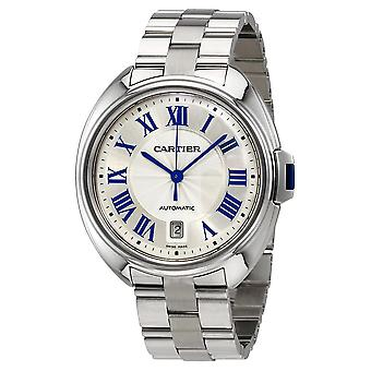 Cartier Cle Automatic Silver Dial Men's Watch WSCL0007