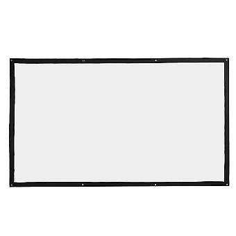 Projektion skærm 100 inches bærbare foldbar blød projektion gardin