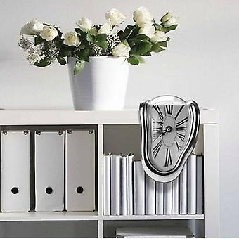 Novel Surreal Melting Distorted Wall Clocks Surrealist Salvador Dali Style Wall Watch Decoration Gift Home Garden