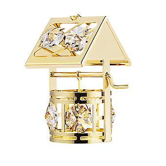 24k Gold Plated Wishing Well With Swarovski