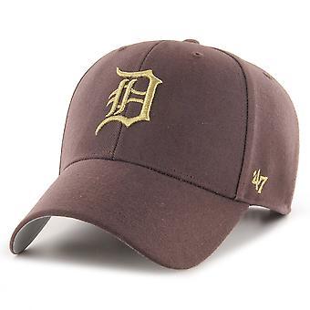 47 Merk Snapback Cap - MLB Metallic Detroit Tigers Brown