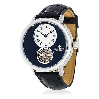 Watch Louis Cottier STORYMATIC Automatic 43 mm Navy silver case - black bracelet - HB34330C1BC1