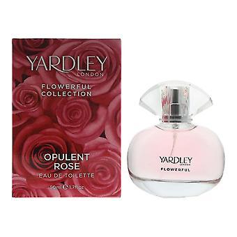 Yardley Flowerful Collection Opulent Rose Eau de Toilette 50ml Spray
