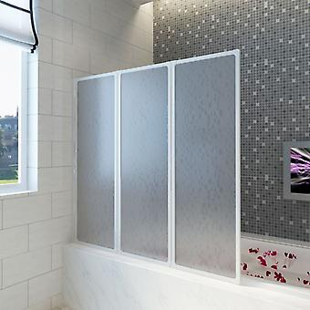 vidaXL حوض الاستحمام للطي الجدار 117x120 سم 3 لوحات قابلة للطي