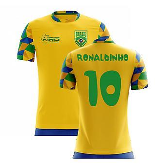 2020-2021 Brazil Home Concept Football Shirt (Ronaldinho 10) - Kids