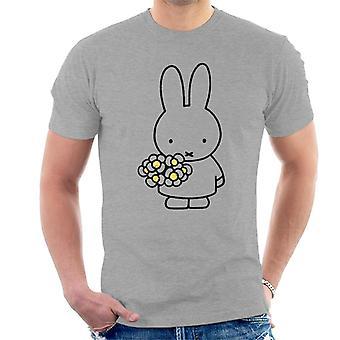 Miffy Holding Tusindfryd Mænd 's T-shirt