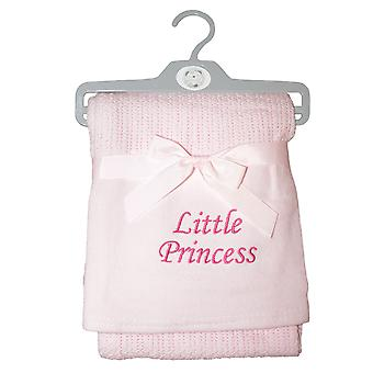 Snuggle Baby Girls Princess Cellular Embroidered Blanket