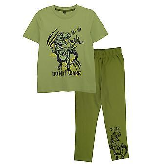Popgear Boys Do Not Wake Dinosaur Pyjama Set
